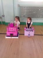P2 show off their castles